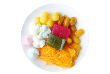 Thai Dessert Isolated White Background