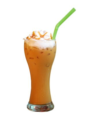 iced coffee with whipping cream