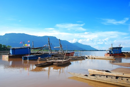 Pier at Mekong River Stock Photo - 13883442