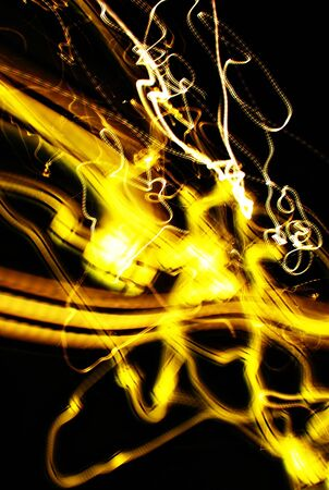 Abstract moving light on a black background Stock Photo - 13935607