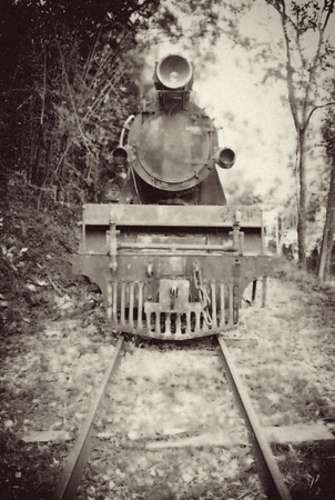 Old Vintage Obraz Train photo