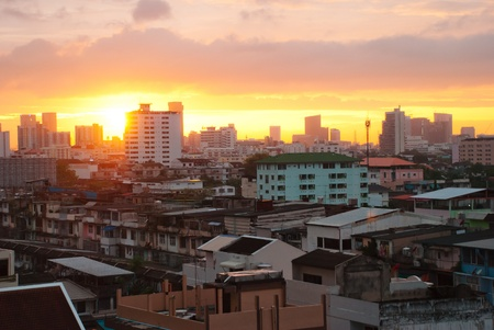 Thailand,Bangkok city skyline in sunset