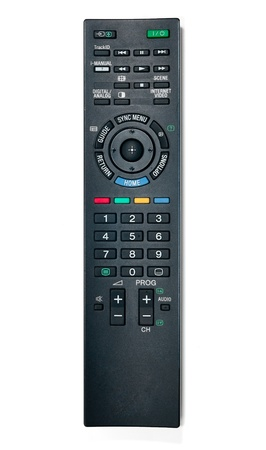 Tv remote control  Isolated on white background Stock Photo