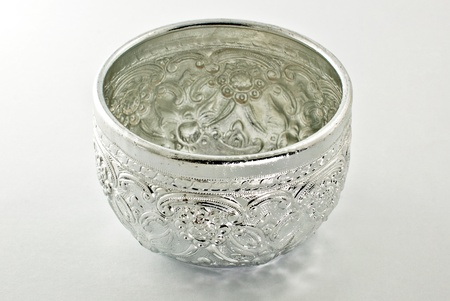 Traditional Thai silver bowl photo