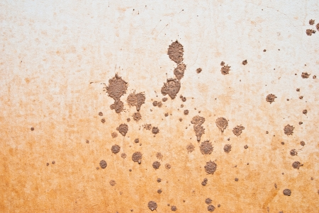 background of wall with splattered of mud Stock Photo