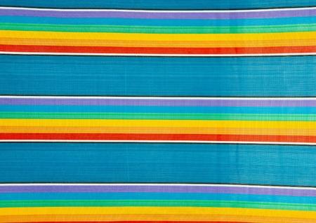 closeup of a beach chair fabric Stock Photo