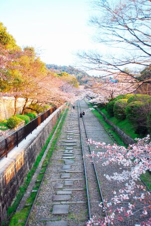 scenery view of Kyoto Old Railway Stock Photo