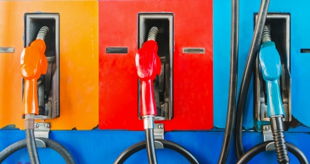 colorful fuel oil gasoline dispenser at petrol filling station Stock Photo - 15424691