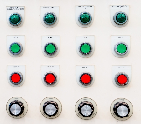Industrial control panel installation button Stock Photo - 15425247