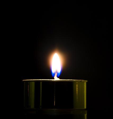 candle light on black background Stock Photo - 16241732