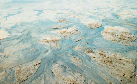 dirty water pollution flows from land to sea
