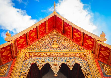 thai style buddhist temple architecture roof