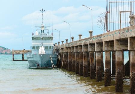 guard ship: moored coast guard ship at Sattahip sea,Thailand