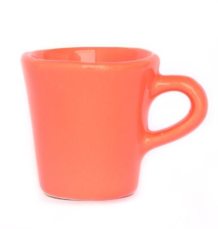 solated: orange mug or cup isolated on white background