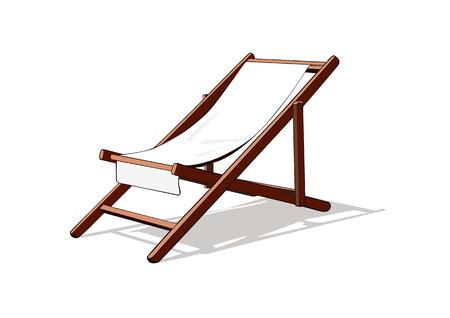 transat: Plage chaise longue vecteur