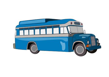 blue bus vector illustration Vector