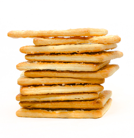 sugar crackers biscuit snack on white background