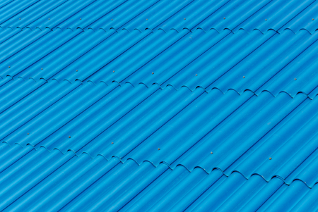 rooftop: pattern of blue tiled rooftop Stock Photo