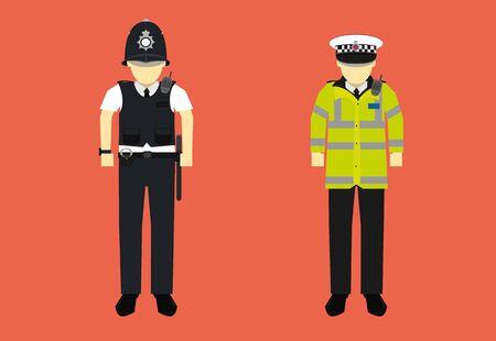 Illustration von Großbritannien Polizist Charakter