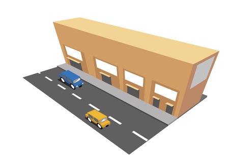 roadside: market store on the roadside illustration