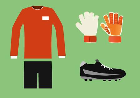 soccer goalkeeper kit Illustration
