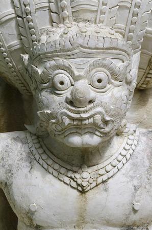 Saraburi,Thailand December 3, 2015: Ancient giant sculpture at Wat Phar Phutthachai Temple.Wat Phar Phutthachai is located on Khao Patthawi in Tambon Nong Pla Lai,Saraburi Province Thailand