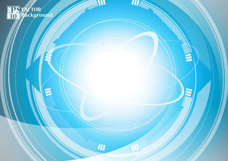 technology background: abstract technology background with circle