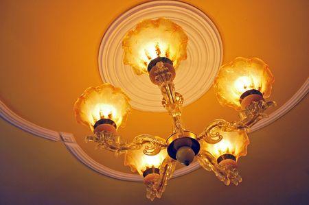suspend: Chandelier with lights