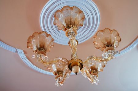 Chandelier with lights photo