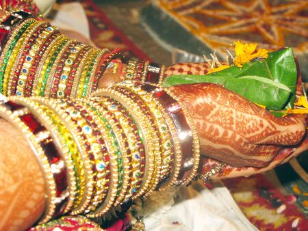 bride bangle: Bride in Indian Marriage Stock Photo