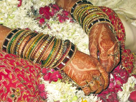 Bridal makeup in Indian Marriage photo