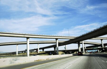 Viaduct Amerika Freeway System Stockfoto