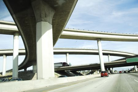Viaduct Amerika Freeway System Stockfoto