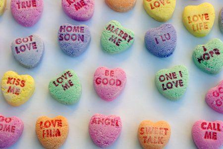 Love Heart Candy  Stockfoto