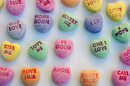 candy hearts: Love Heart Candy