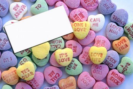 Valentine Love Heart Candy  Standard-Bild - 2390117