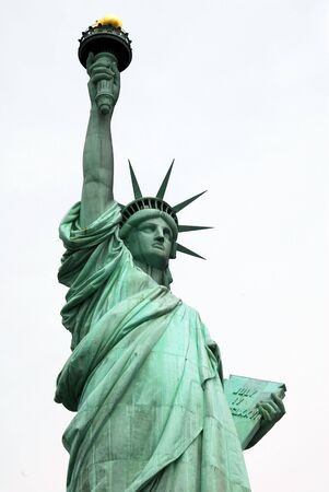 tarnish: Statue of Liberty at New York USA Stock Photo
