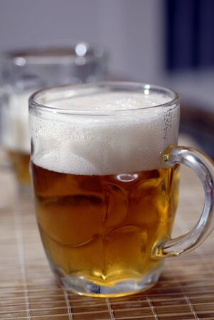 sedative: Beer Glass Isolated Stock Photo