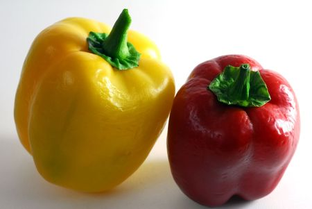Bell Pepper in red and yellow colors