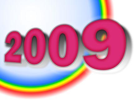 Happy New Year 2009 Calendar Zdjęcie Seryjne