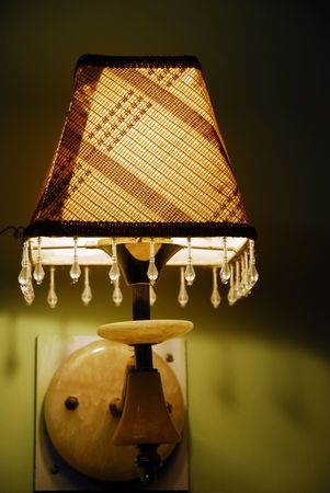 Interior decoration with a fancy table lamp