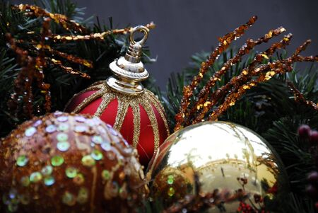 Christmas Decoration Baubles Stock Photo - 3773644