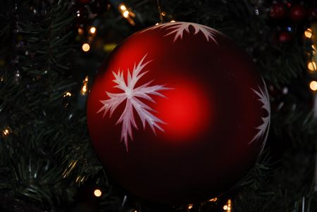 Red Bauble Stock Photo - 3773642