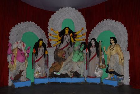 Durga Puja Festival Kolkata India Stock Photo