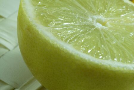 An isolated shot of a Lemon Slice