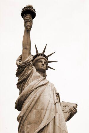tarnish: Statue of Liberty at New York USA Stock Photo
