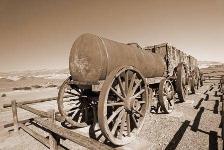 borax: Borax Mining Carriage in Death Valley California USA