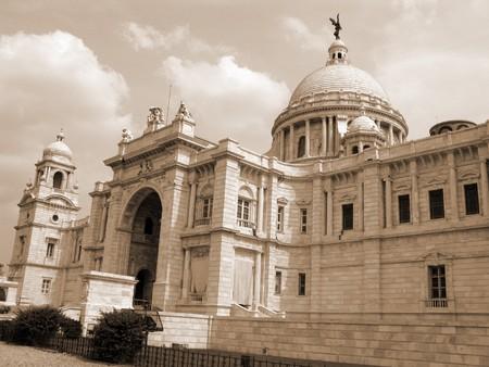 historians: Victoria Memorial Building a Calcutta, in India. Una famosa attrazione turistica Archivio Fotografico