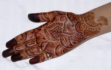 designer: An isolated shot of Henna Tattoo on Hands