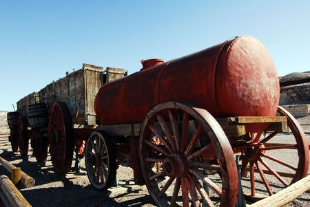 Borax Mining Cart in Death Valley California USA photo